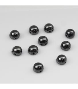 CzechMates Cabochon 7mm  Hematite - 10szt