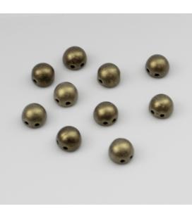 CzechMates Cabochon 7mm  Metallic Suede - Gold - 10szt