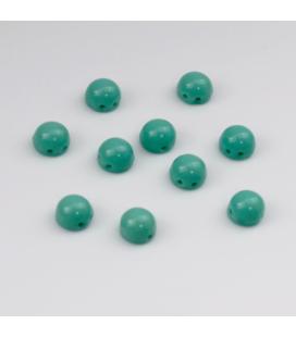 CzechMates Cabochon 7mm (loose) Opaque Turquoise - 10szt