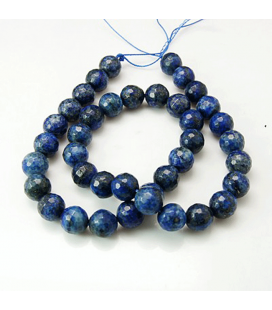 Lapis lazuli kulka fasetowana 8 mm - 10 szt