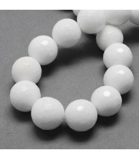 Jadeit kulka fasetowana 8 mm - 20 szt
