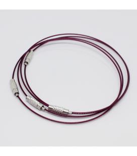 Baza do bransoletki bordowa 23,5 cm - 1szt