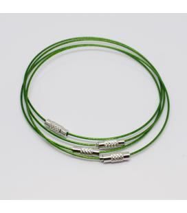 Baza do bransoletki zielona 23,5 cm - 1szt