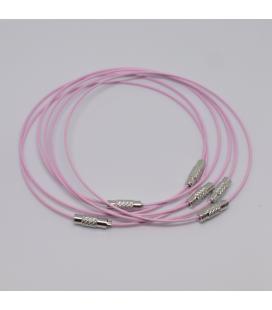 Baza do bransoletki różowa 23,5 cm - 1szt