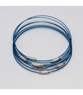 Baza do bransoletki niebieska 23
