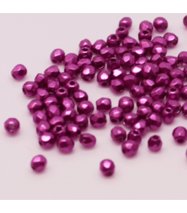 Fire Polish 2mm Saturated Metallic Pink Yarrow - 2g