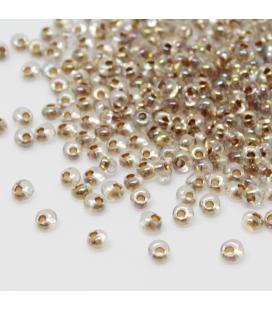 Бисер ТОХО Magatama 3mm Gold-Lined Rainbow Black Diamond - 30г