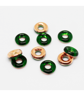 Glass Rings 10mm - Chrysolite Capri Gold
