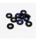 Glass Rings 9mm - Jet Azuro