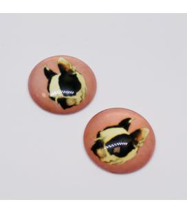 Kaboszon szklany 25mm - 1szt