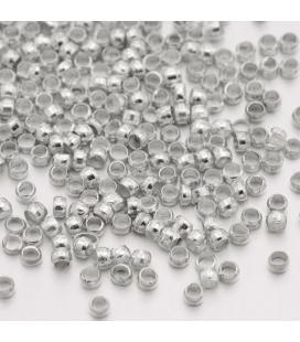 Zaciski w kolorze  srebrnym - 1,5mm - 2g