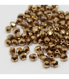 Fire Polish 4mm Gold Bronze - 120szt