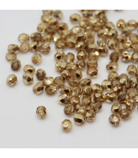 Fire Polish 3mm Crystal Gold/Topaz - 180szt