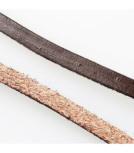 Rzemień skórzany naturalny płaski 5x2mm - 1m