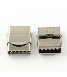 Zapięcie ze stali szlachetnej z ząbkami 20x25mm - 1szt